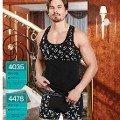 Erkek Boxer Harf Desenli Berrak 4478