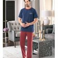 Erkek Kısa Kol T-Shirt-Uzun Alt Pijama NBB 7898