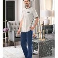 Erkek Kısa Kol T-Shirt-Uzun Alt Pijama NBB 7901