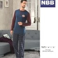 Erkek Patlı Ekose T-Shırt Pijama NBB 7887