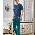 Erkek V Yaka Cepli T-Shirt-Uzun Alt Pijama NBB 7896
