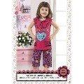 Hmd Kız Çocuk Kalp Baskılı Kapri Takım 5105