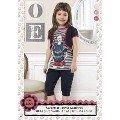 Hmd Kız Çocuk Moda Baskılı Kapri Takım 5097
