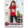 Hmd Kız Çocuk Surat Baskılı Kapri Takım 5090
