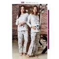İnterlok Ayıcıklı Lohusa Pijama Takım Bone Club 4642