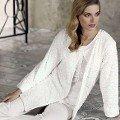Lohusa Bayan Pijama Takımı 3 Lü Kürklü Artış 2309