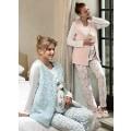 Lohusa Pijama Takımı Yelekli 3 Lü Takım (Ev Terliği Hediyeli) Feyza 3117