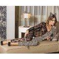 Moonlight 9024 Fantazi Leopar Kedi Kadın Tulum Kostümü