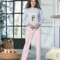 Patlı Uzun Kol Bayan Pijama Takım NBB 66347