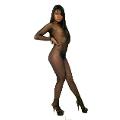 La Blinque Sırt Dekolteli File Vücut Çorabı 7000