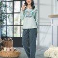 Uzun Kol Bayan Pijama Takım NBB 66345