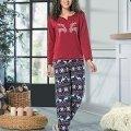 Uzun Kol Bayan Pijama Takım NBB 66348