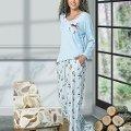Uzun Kol Bayan Pijama Takım NBB 66364