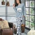Uzun Kol Bayan Pijama Takım NBB 66374