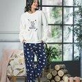 Uzun Kol Bayan Yıldızlı Polar Pijama Takım NBB 66369