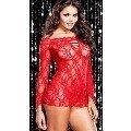 Vixson Kırmızı iç Giyim Ve Transparan Elbise