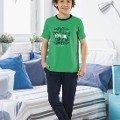 Yeşil Erkek Garson Pijama Takım HMD 7042