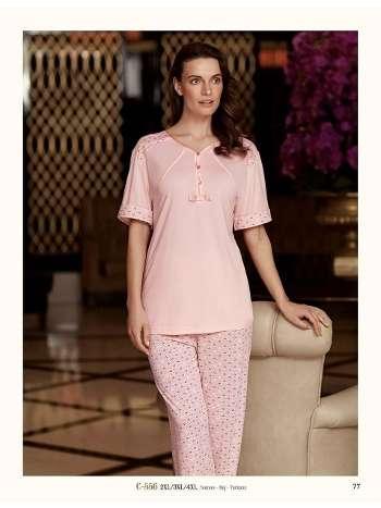 3 Yaprak Yonca Pijama Takımı Fantasy C556