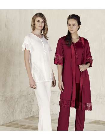 3lü Sabahlık Pijama Takım Artış 3405