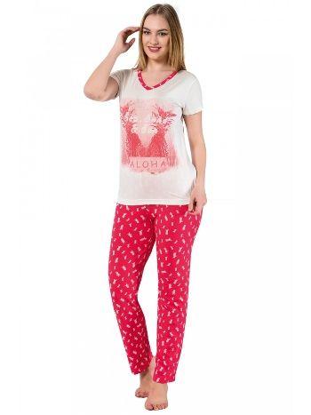 Akbeniz Bayan Kısa Kol Pijama Takımı 2366