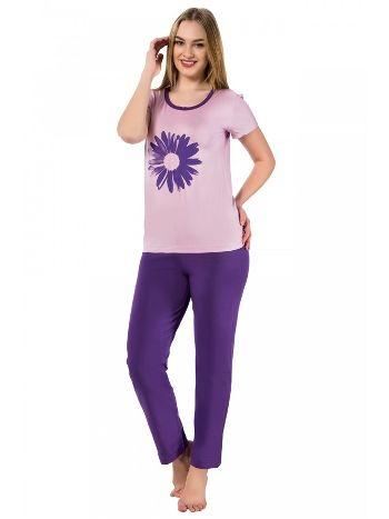 Akbeniz Bayan Kısa Kol Pijama Takımı 2376