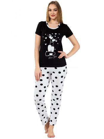 Akbeniz Bayan Kısa Kol Pijama Takımı 2382