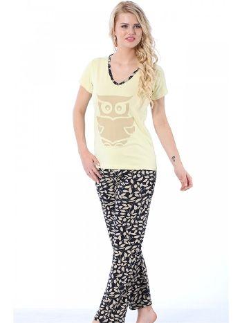 Akbeniz Bayan Kısa Kol Pijama Takımı 3081