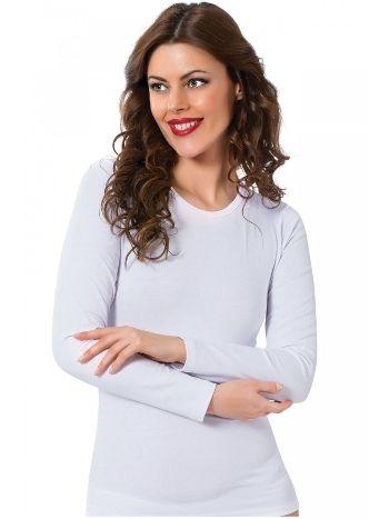 Akbeniz Bayan Uzun Kol Beyaz Body 250