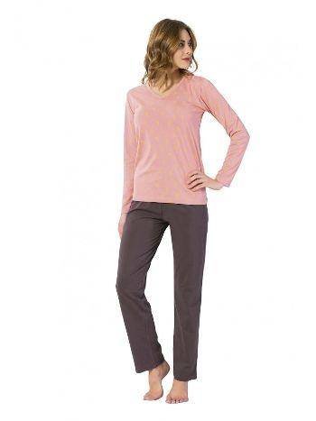 Akbeniz Bayan Uzun Kol Pijama Takımı 2434