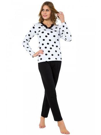 Akbeniz Bayan Uzun Kol Pijama Takımı 2437