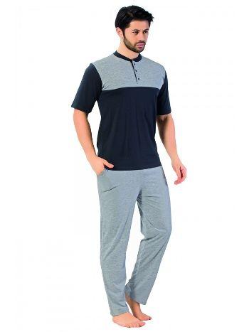 Akbeniz Erkek Pijama Takımı Antrasit 6605