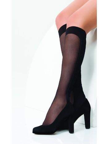 Daymod Akik Desenli Dizaltı Çorap