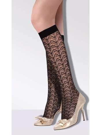 Daymod Angel File Desenli Dizaltı Çorap