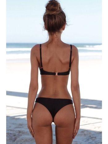 Angelsin 3236 Şık Siyah Bikini Takım