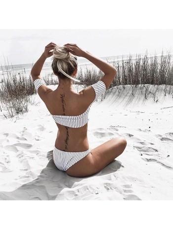 Angelsin Şık Straplez Bikini Takım