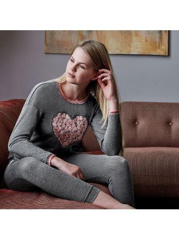 Anıl Kalp Desen Pijama Takım 9550