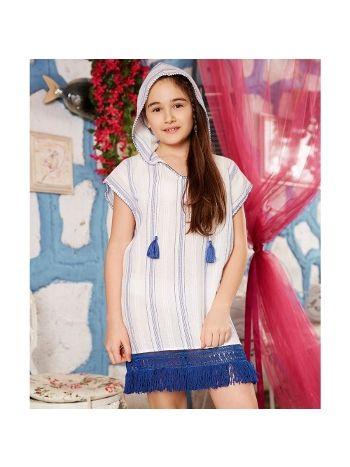 Anıl Kız Çocuk Kapüşonlu Elbise 6339