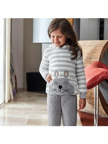 Anıl Kız çocuk uzun kollu pijama takım 6347