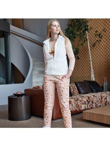 Anıl Uzun Kollu 3 lü Pijama Takım 9561