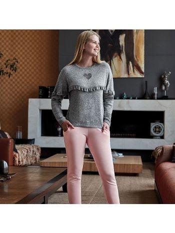 Anıl Uzun Kollu Pijama Takım 9549