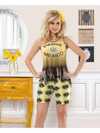 Anıt Mexıco Baskılı Bayan Takım 10108
