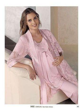 3'lü Lohusa Pijama Takım Artış 1402