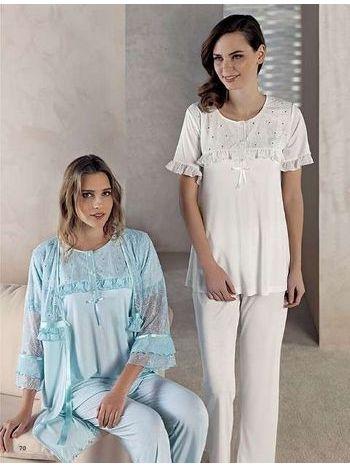 3'lü Lohusa Pijama Takım Artış 1403