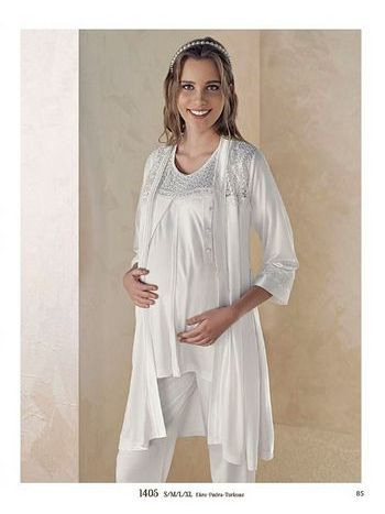 3'lü Lohusa Pijama Takım Artış 1405