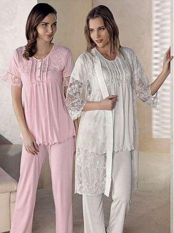3'lü Lohusa Pijama Takımı Artış 1411