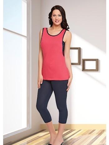 Askılı Uzun Tayt Pijama Takımı Dünya Yıldızı 5511