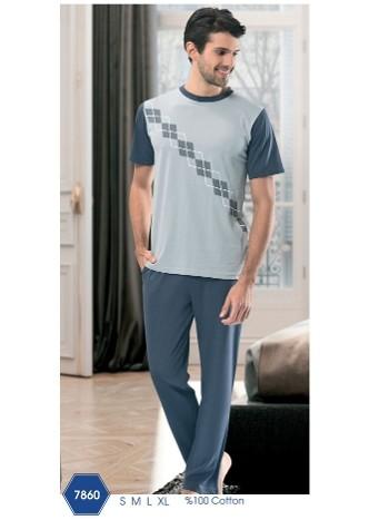 Baklava Uzun Pijama NBB 7860