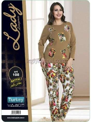 Battal Bayan Pijama Takım Lady 108
