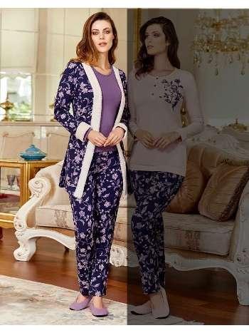 Bayan 3 lü Pijama Takım Dowry 15-122
