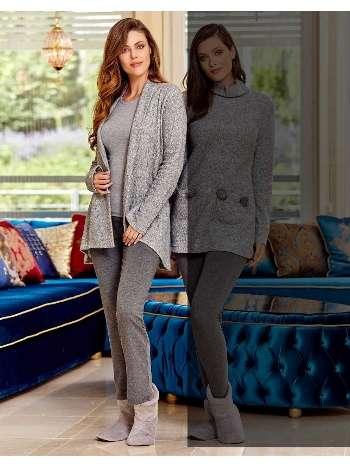 Bayan 3 lü Pijama Takım Dowry 15-63